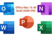 Office Mac 2019 16.40 Build 20081000