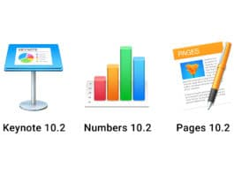 Keynote 10.2 Numbers 10.2 Pages 10.2
